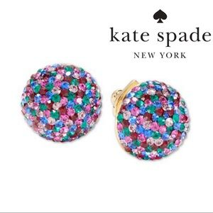 NWT KATE SPADE Crystal Stud Multi-Color Earrings
